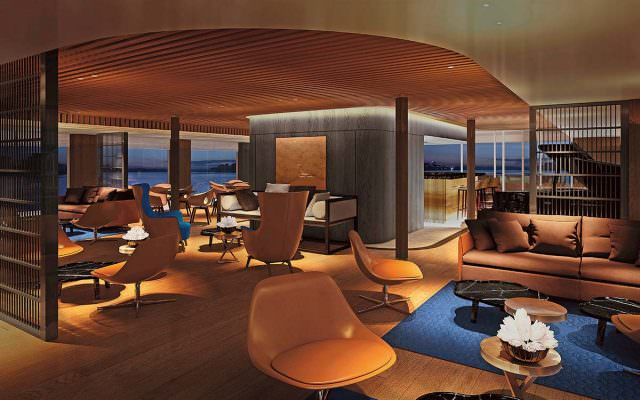 The Lounge aboard Scenic Spirit. Render courtesy of Scenic.