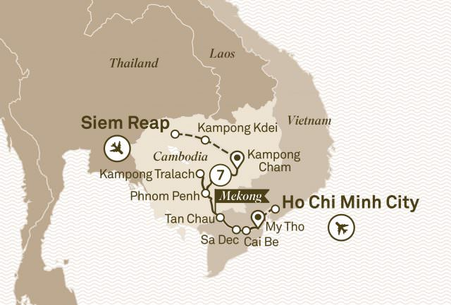 Scenic's journeys along the Mekong are comprehensive and varied. Illustration courtesy of Scenic