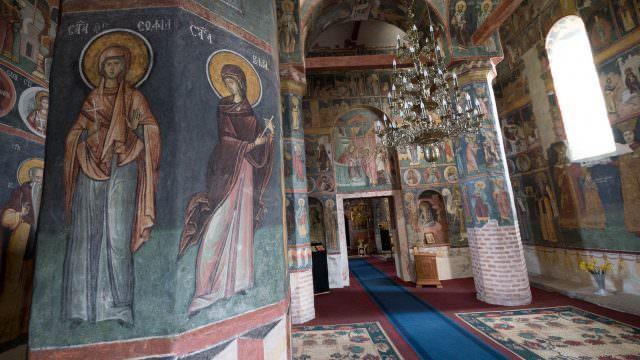 Inside Snagov Monastery