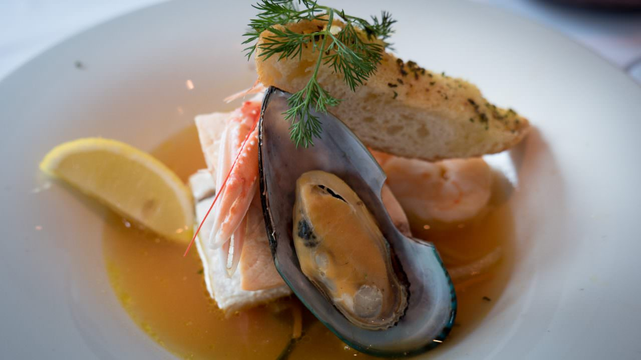 Made with fresh seafood from the region, bouillabaisse. © 2016 Ralph Grizzle