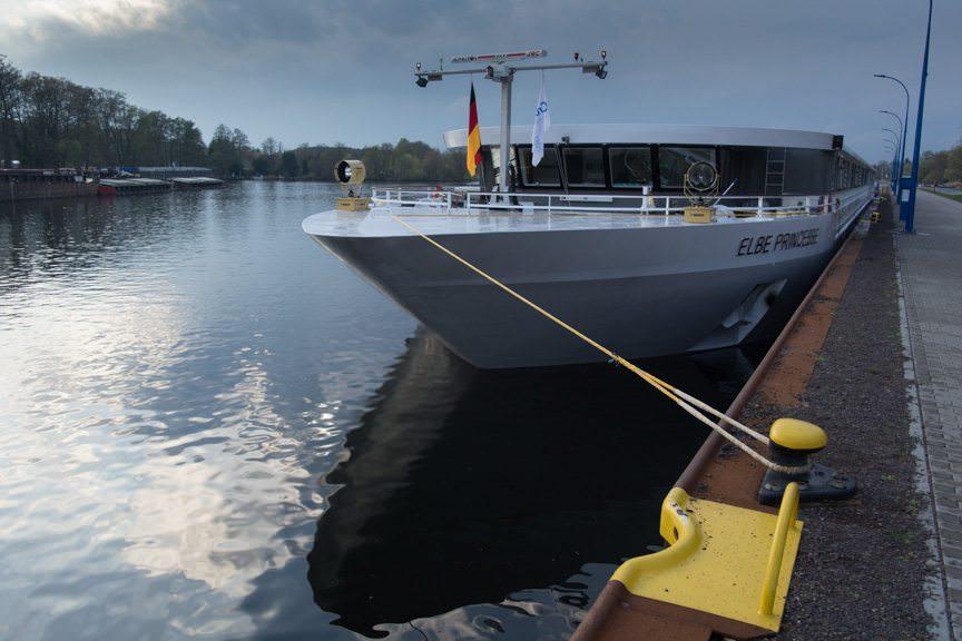 CroisiEurope's Elbe Princesse, docked near Potsdam, Germany on April 15, 2016. Photo © 2016 Aaron Saunders