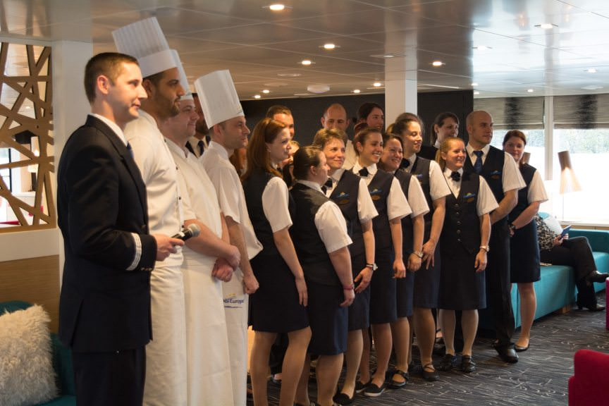 CroisiEurope's friendly crews make guests of all nationalities feel at home. Photo © 2016 Aaron Saunders
