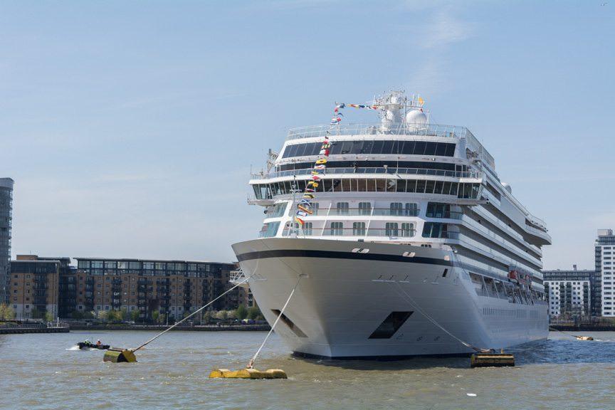 Viking Sea in Greenwich, England on May 5, 2016. Photo © 2016 Aaron Saunders