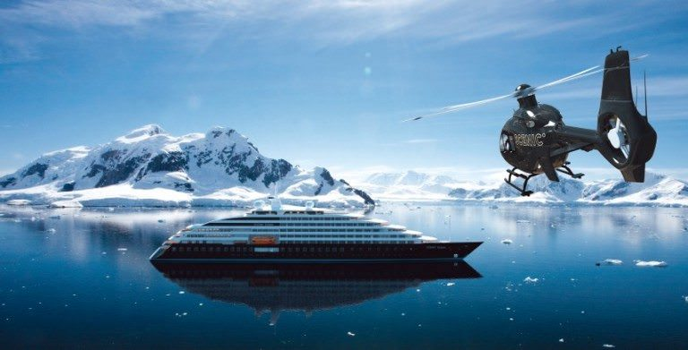 Scenic will make its first foray into luxury expedition ocean cruises in 2018 with Scenic Eclipse. Rendering courtesy of Scenic.