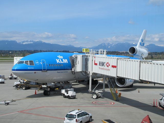 Up, up and away with KLM! Too bad they no longer use the MD-11 pictured here. Photo © 2011 Aaron Saunders