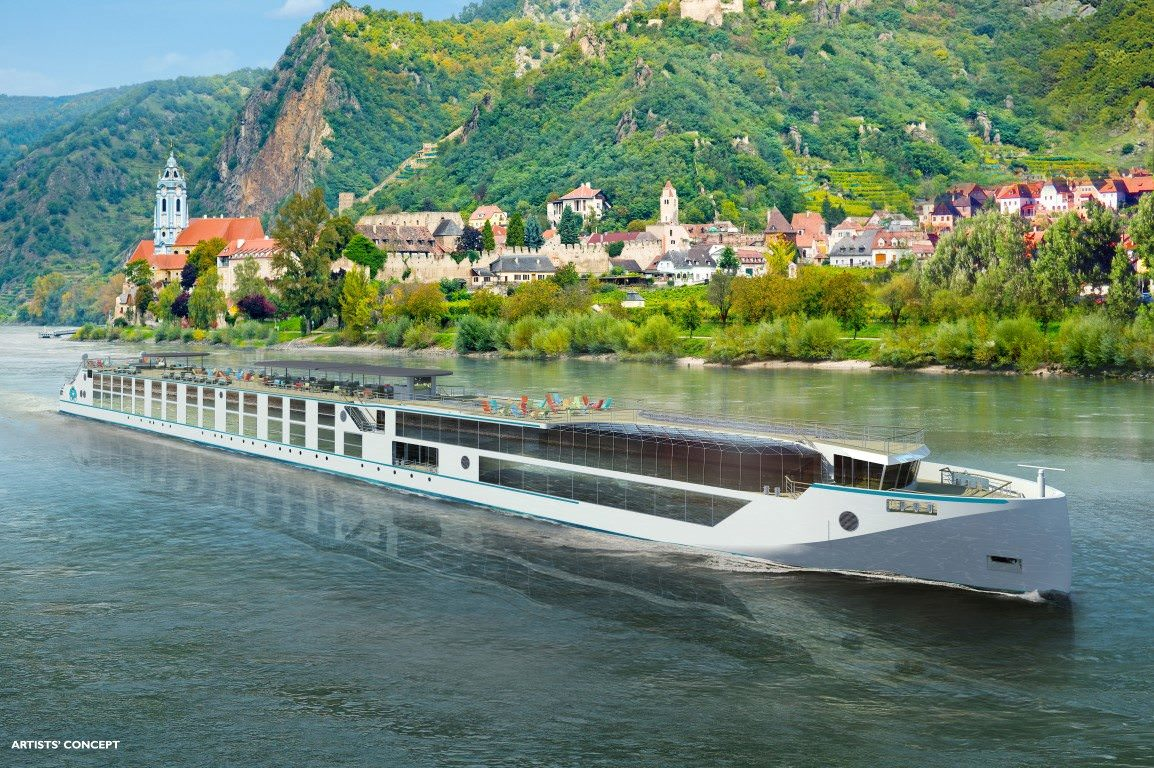 Crystal is introducing its first four purpose-built river cruise ships to the waters of Europe next year. Rendering courtesy of Crystal River Cruises.
