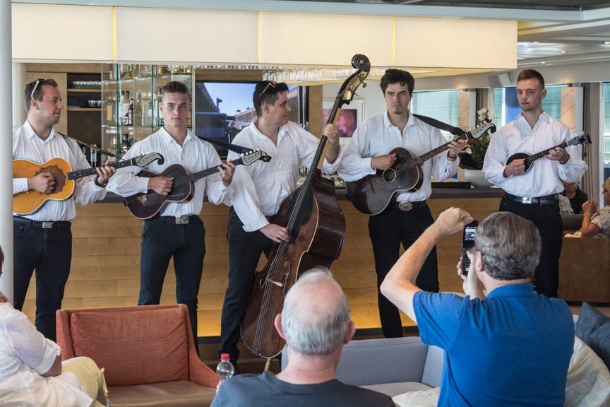 This morning, guests aboard Viking Embla were treated to some traditional Croatian music from a team of local performers. Photo © 2016 Aaron Saunders