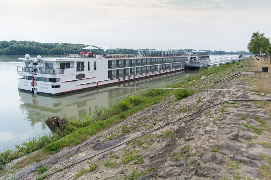 Viking River Cruises' Viking Embla docked in Kalocsa, Hungary this afternoon. Photo © 2016 Aaron Saunders