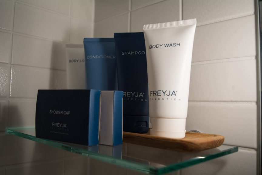 What the Freyja!? Viking's river cruise fleet now features Freyja toiletries like those found aboard Viking's oceangoing ships, Viking Star and Viking Sea. Photo © 2016 Aaron Saunders