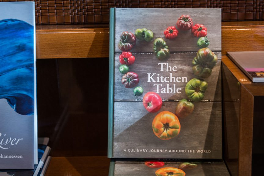 ...including the best cookbook I personally own, filled with recipes from around the world as chosen by Viking's Vice President, Karine Hagen. Photo © 2016 Aaron Saunders
