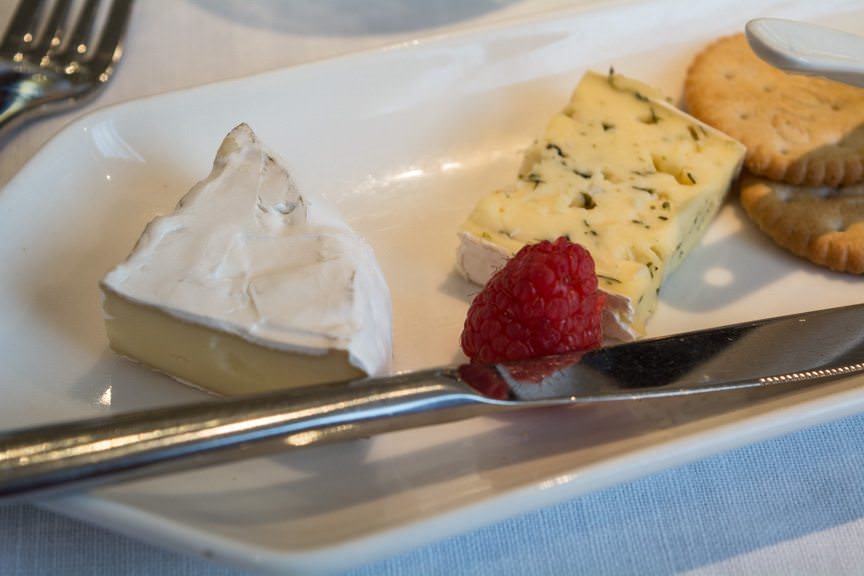 Viking also offers a Cheese Plate with selections that rotate daily. This was my dessert. Photo © 2016 Aaron Saunders