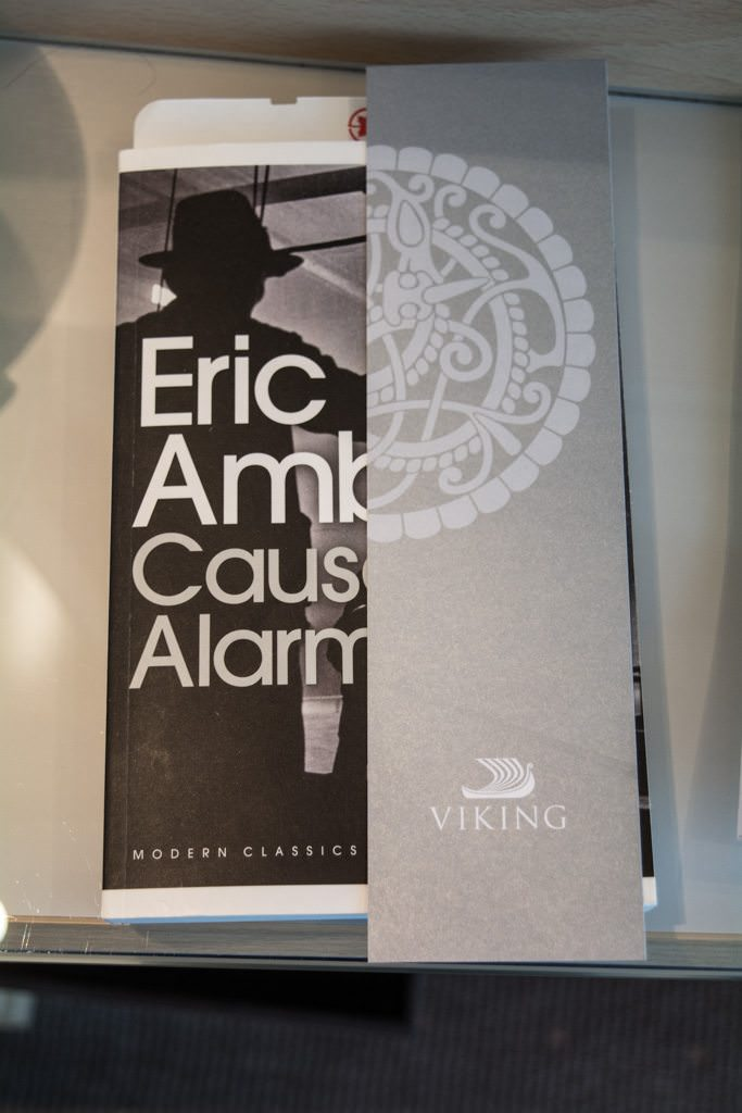 Viking is known for other little niceties, too. Put a book out in your stateroom - you just might get a nifty little bookmark inserted into it. Photo © 2016 Aaron Saunders