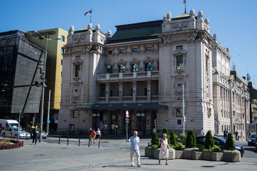 Belgrade's National Theatre, where our behind-the-scenes opera tour was held. Photo © 2016 Aaron Saunders