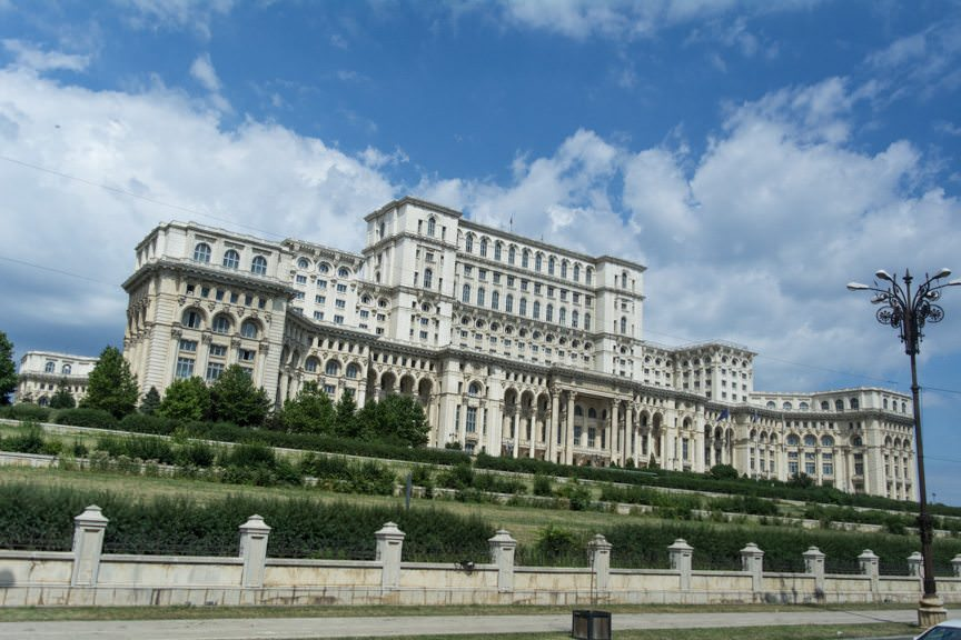 Romania's Palace of the Parliament: the largest administrative center outside of the White House. Photo © 2016 Aaron Saunders
