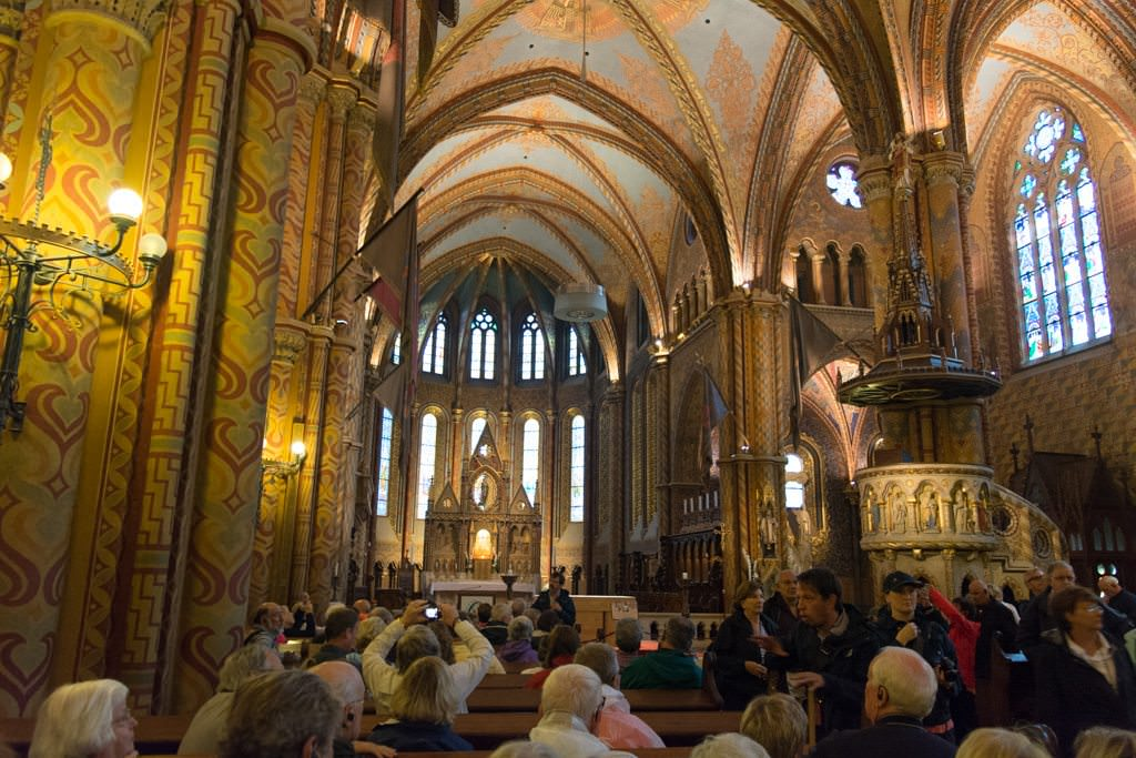 Inside the Matthias Church: crowded but spectacular. Photo © 2016 Aaron Saunders