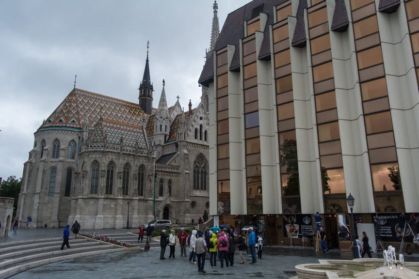 The Matthias Church is also adjacent to the Budapest Hilton, on the right. Photo © 2016 Aaron Saunders