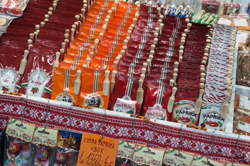You can't go too far in Budapest without finding paprika for sale... Photo © 2016 Aaron Saunders