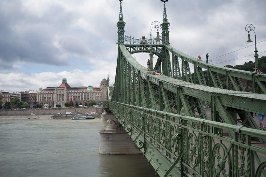 Budapest's Liberty Bridge. Photo © 2016 Aaron Saunders