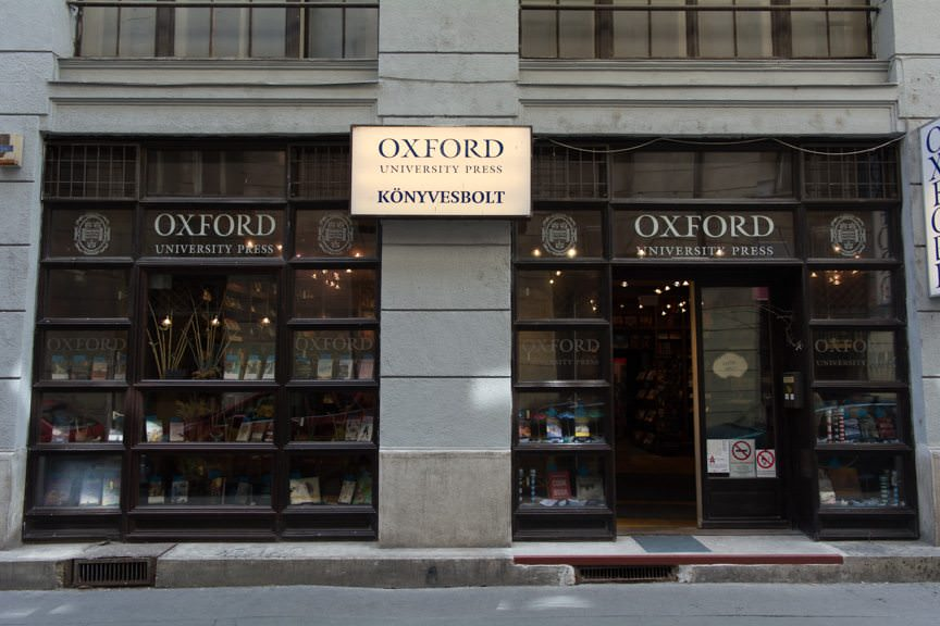 The Oxford Bookshop is tucked away on a hard-to-find street. Photo © 2016 Aaron Saunders