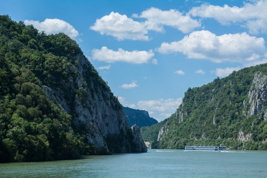 Cruising the Danube's Iron Gates with Viking River Cruises this afternoon.