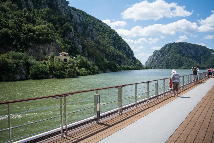 Sailing the famous Iron Gates of the Danube aboard Viking River Cruises' Viking Embla. Photo © 2016 Aaron Saunders