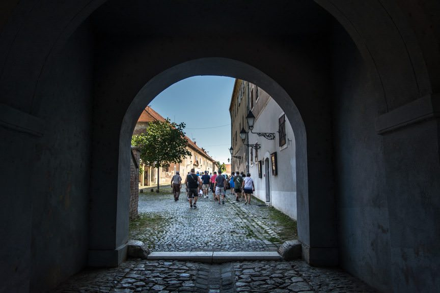 The streets of Osijek's historic Old Town, as seen on our included tour with Viking River Cruises today. Photo © 2016 Aaron Saunders