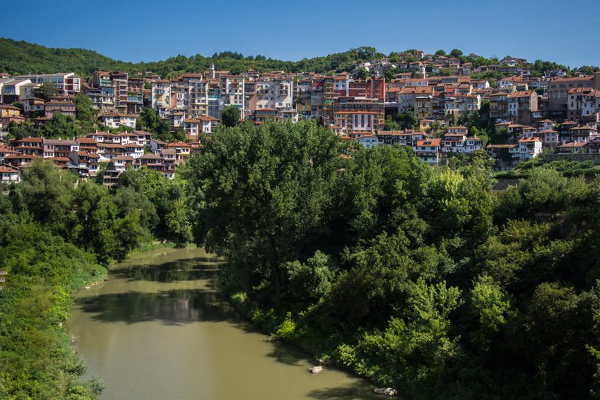 Veliko Tarnov was the capital of the Second Bulgarian Empire from 1186 to 1393. Photo © 2016 Aaron Saunders