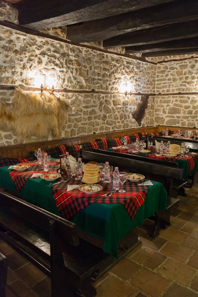 Our local lunch was held in a traditional Bulgarian tavern...Photo © 2016 Aaron Saunders