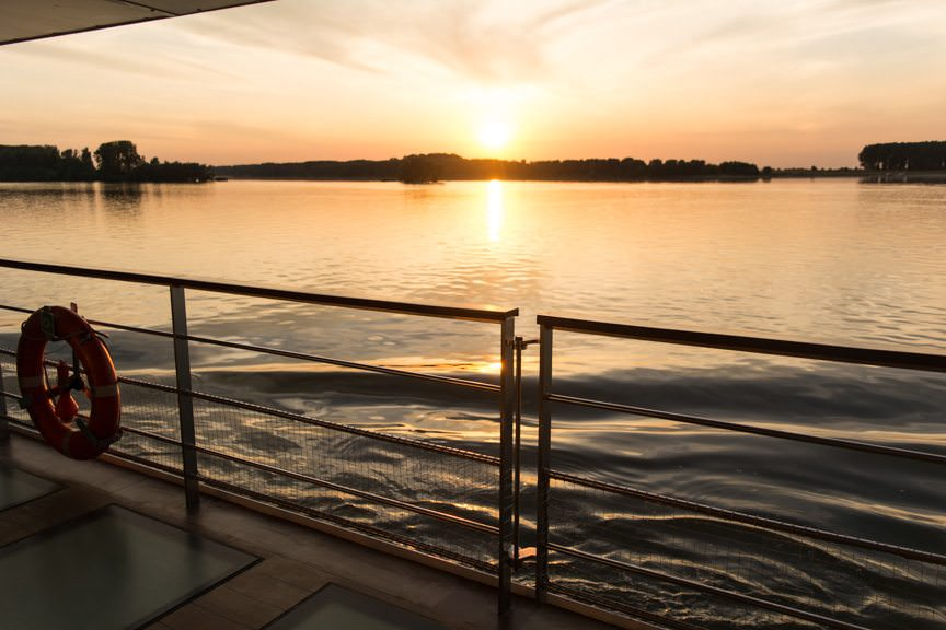 The spectacular Eastern Danube, as seen this evening from onboard Viking River Cruises' Viking Embla.