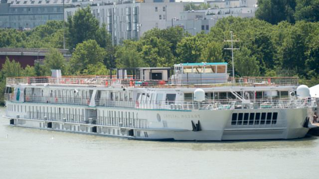 At 22.8 meters wide, Crystal Mozart is nearly twice the width of the standard river cruiser. ©2016 Ralph Grizzle