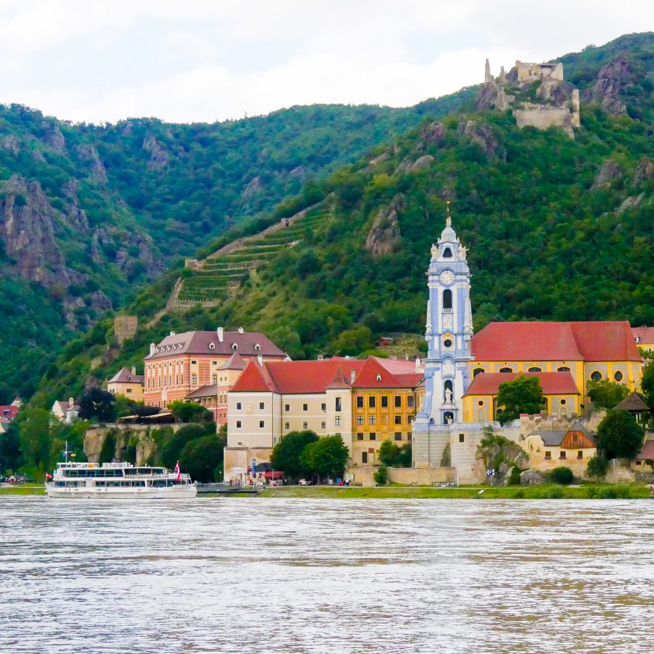 Our Wachau Valley ride took us to Durnstein. © 2016 Ralph Grizzle