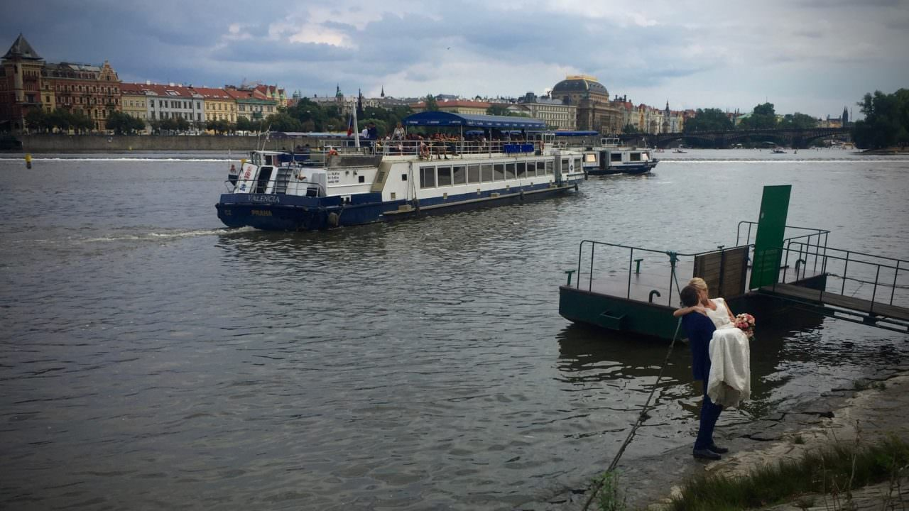 Love is in the air - and on the river, in Prague. ©2016 Ralph Grizzle