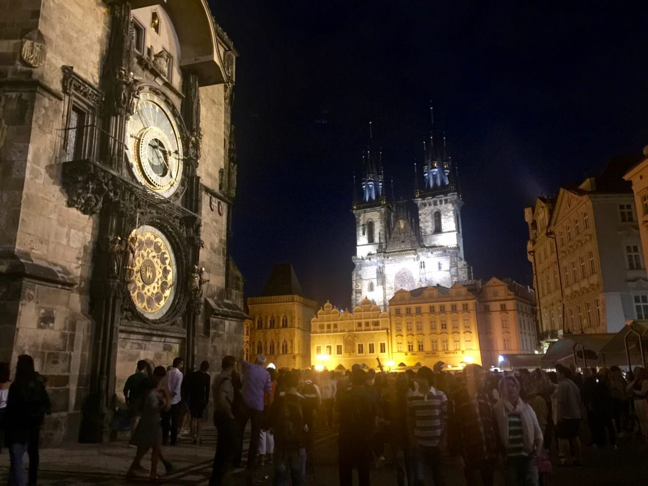In the Old Town Square, the Prague astronomical clock is a medieval astronomical clock dating from 1410, making it the third-oldest astronomical clock in the world and the oldest one still operating. ©2016 Ralph Grizzle