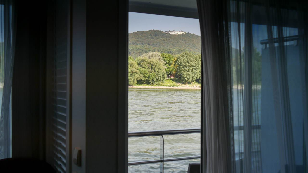 View from my balcony as we cruise the Rhine Gorge. © 2016 Ralph Grizzle
