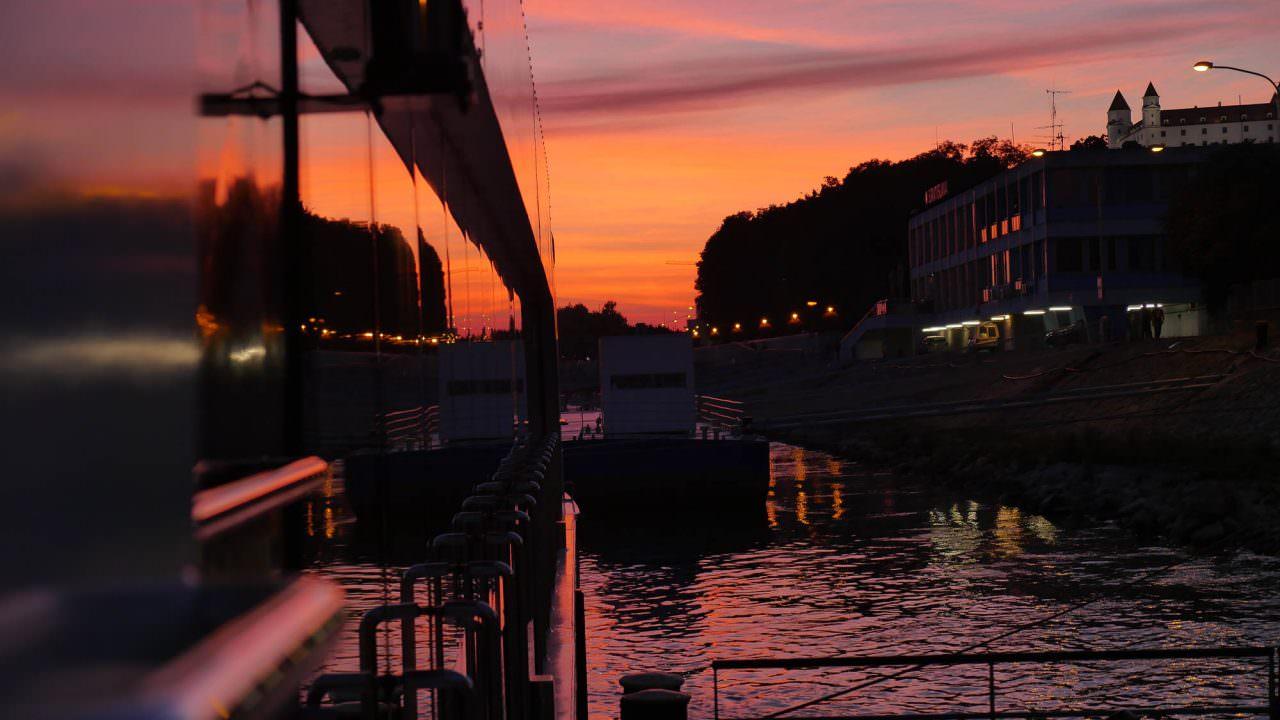 Bratislavan sunset. © 2016 Ralph Grizzle