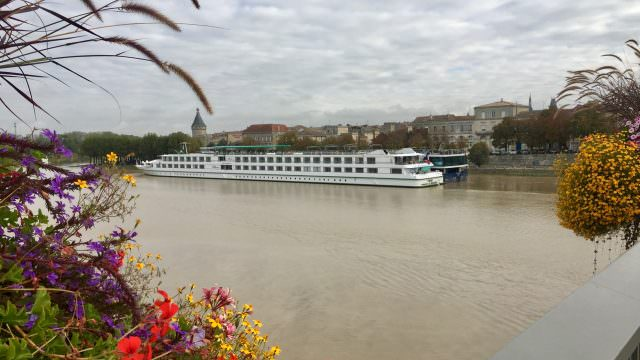 CroisiEurope's Cyrano de Bergerac and AmaWaterways AmaDolce in Libourne, France. © 2016 Ralph Grizzle