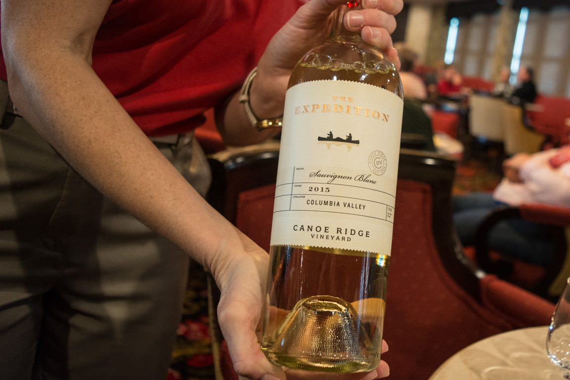 Local wines are served complimentary with dinners onboard, and AQSC's special wine-themed voyages like this include complimentary tasting events. Photo © 2016 Aaron Saunders
