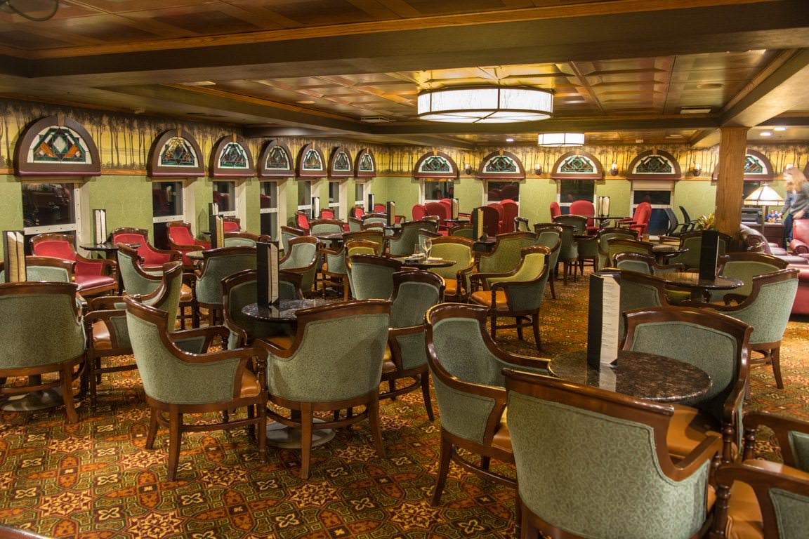 There's nothing quite like the Paddlewheel Lounge aboard the American Empress. Photo © 2016 Aaron Saunders