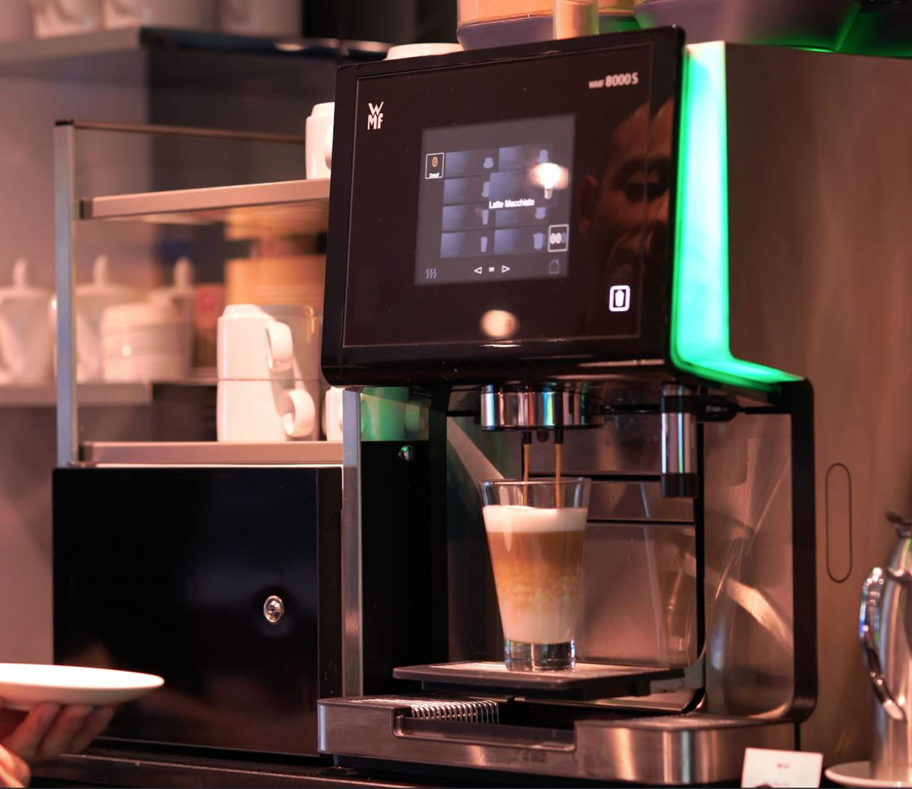 Emerald Radiance Coffee Machine