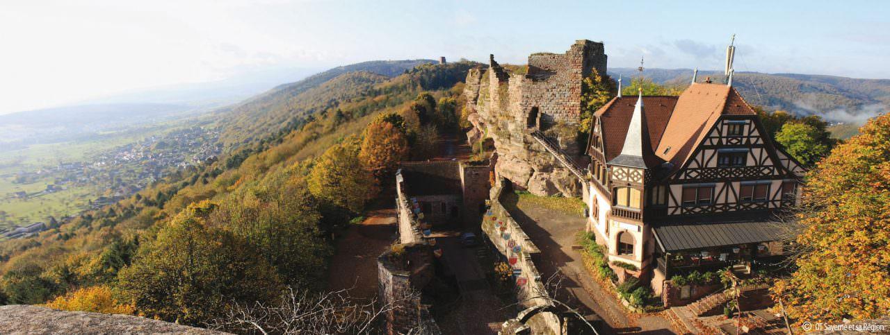 Canaux-Alsace-Marne-Rhin-Saverne-chateau-du-Haut-Barr-44364©Office du Tourisme de Saverne et sa region