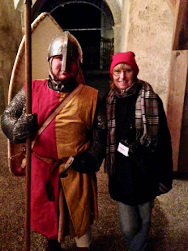 Medieval guard at Castle Clam.