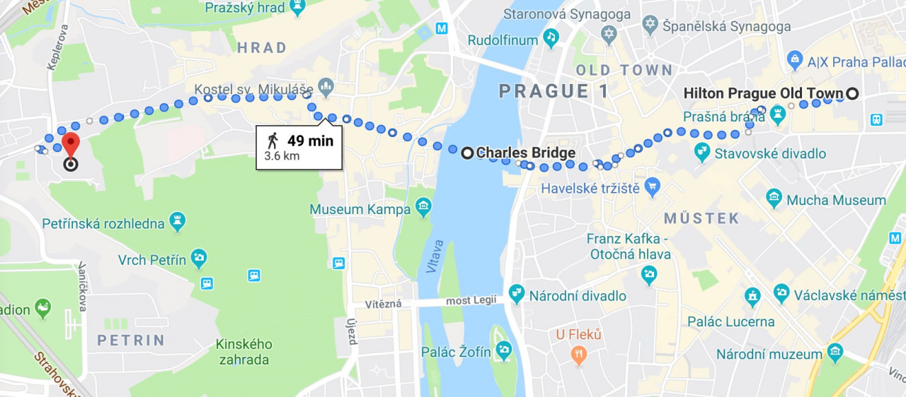 google maps prague