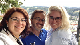 In Passau with Maddy and Leo. © 2019 Britton Frost