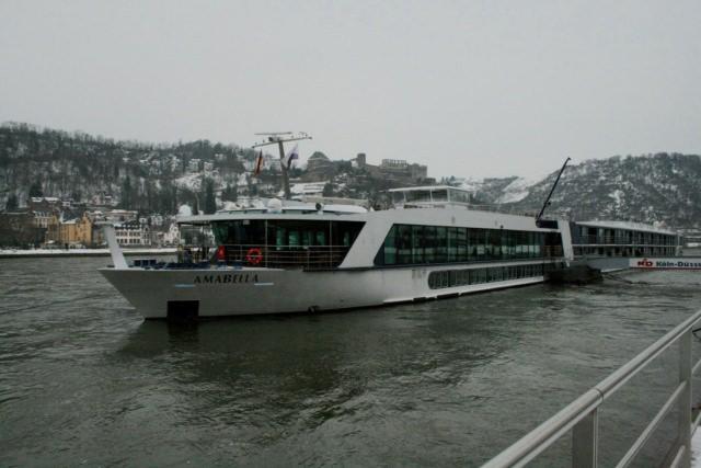 AmaBella docked along the Rhine
